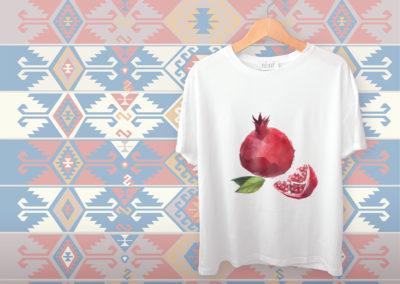 t shirt sipak nar pomegranate
