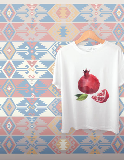 t shirt sipak nar pomegranate