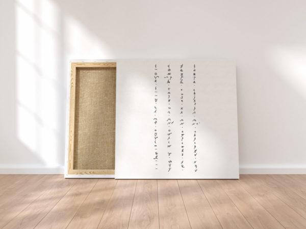 Print on canvas, interior design, poster