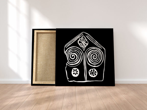 Print on canvas, interior design